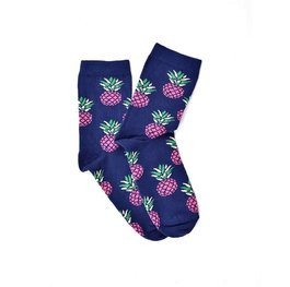 """Pink Pineapples"" COOLor Socks"
