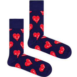 """Smiling Hearts"" COOLor Socks"