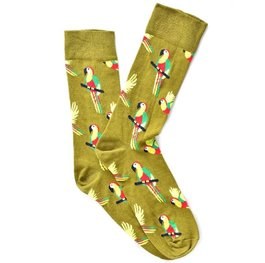 """Parrots"" Green COOLor Socks"