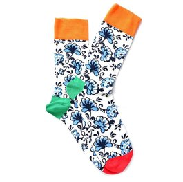 """Blue Flowers"" COOLor Socks"