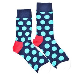 """Turquoise Dots"" COOLor Socks"