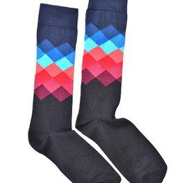 """Navy Gradient Long"" COOLor Socks"