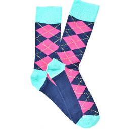 """Pink Rhombus"" COOLor Socks"