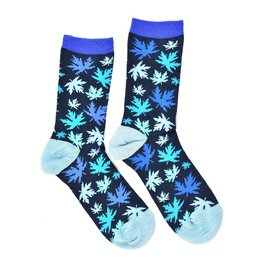 """Blue Leaves"" COOLor Socks"