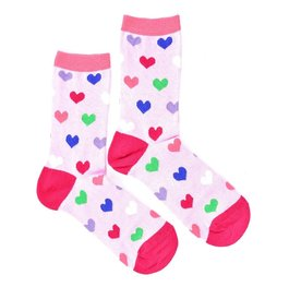 """Hearts Pink"" COOLor Socks"