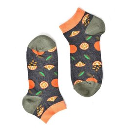 """Oranges"" Grey Short COOLor Socks"