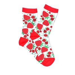 """White Strawberries"" COOLor Socks"