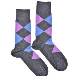 """Checkered - Purple"" COOLor Socks"