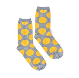 """Yellow Big Dots"" COOLor Socks"