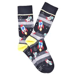"""Space Rocket"" COOLor Socks"