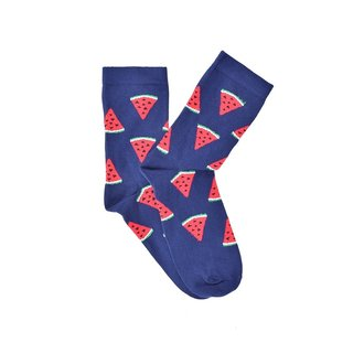 """Watermelon"" - Navy Blue COOLor Socks"