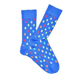 """Christmas Tree"" Blue COOLor Socks"