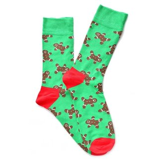 """Ginger Cookies"" Green COOLor Socks"