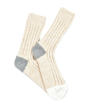 """Beige Alpaca"" COOLor Socks"