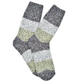 """Green & Gray Alpaca"" COOLor Socks"