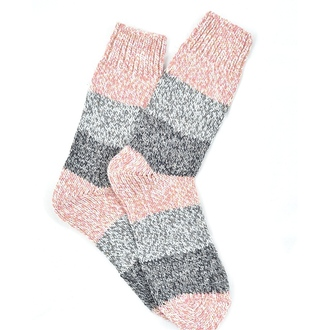 """Pink & Gray Alpaca"" COOLor Socks"