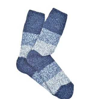 """Blue & Grey Alpaca"" COOLor socks"