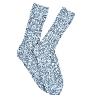 """Blue melange Alpaca"" COOLor socks"