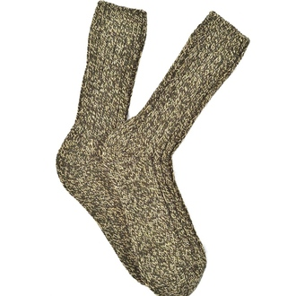 """Olive melange  Alpaca"" COOLor socks"