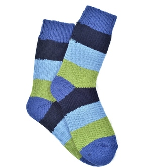 """ Colored stripes Alpaca"" COOLor socks"