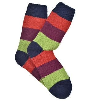 """ Rug stripes Alpaca"" COOLor socks"