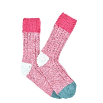 ",,Pink melange Alpaca"" COOLor socks"