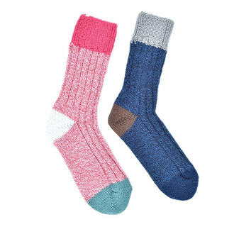"""Pink & Blue melange Alpaca"" COOLor socks - 2 броя"
