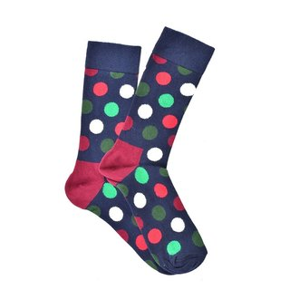 """Pomegranate Dots"" Color Socks"