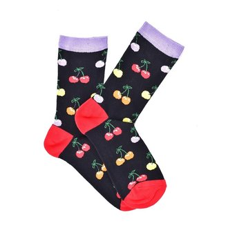 """Black Cherries"" COOLor Socks"