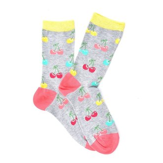 """Gray Cherries"" COOLor Socks"