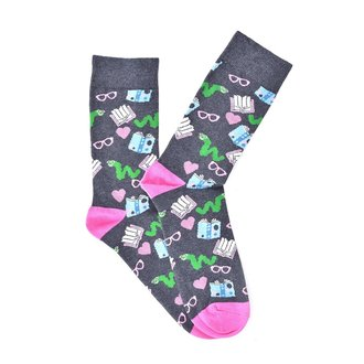 """Pink Glasses"" COOLor Socks"