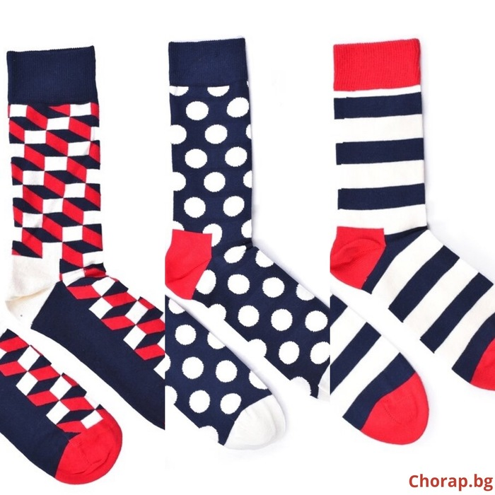 ",,Seashore"" сет 3 чифта COOLor socks - мъже"