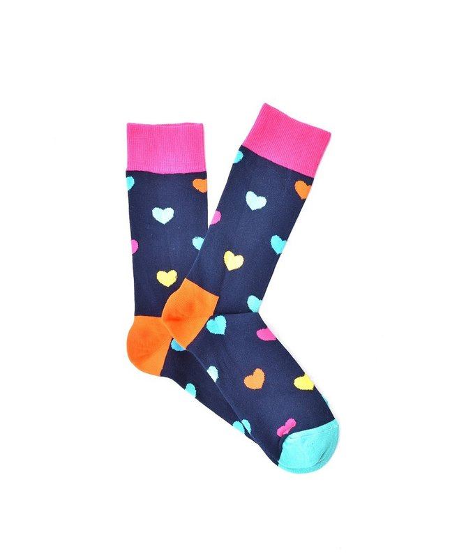 """Funky Hearts"" COOLor Socks"