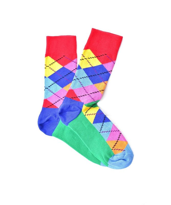 """Bright Checkered"" COOLor Socks"