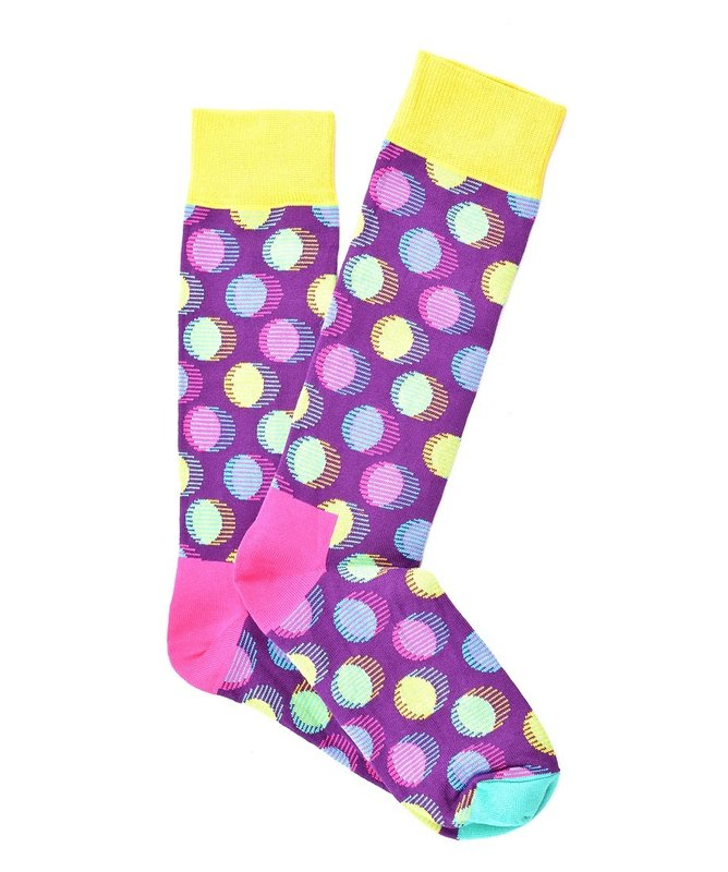 """Space Dots"" COOLor Socks"