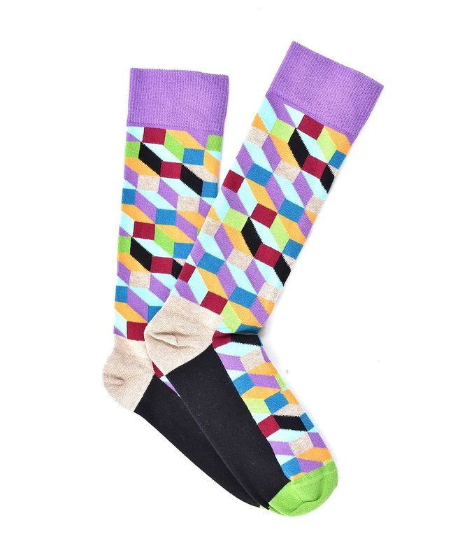 """Colorful Stereometry"" COOLor Socks"