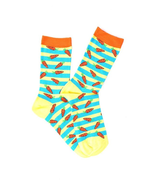 """Carrots on the Lines"" COOLor Socks"